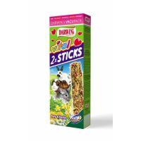 Tyčinka Vital Sticks pro morčata,králíky a činčily seno s bylinkami