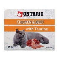 Vanička ONTARIO chicken & beef with taurine (115g)