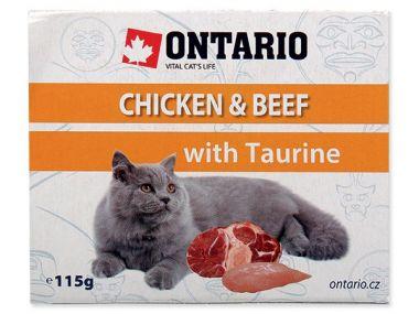 Vanička ONTARIO chicken & beef with taurine (115g)