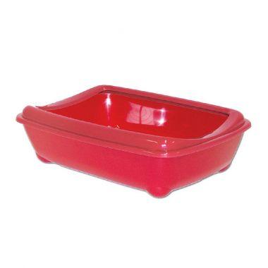 WC Arist-o-cat červené s okrajem, 50 cm