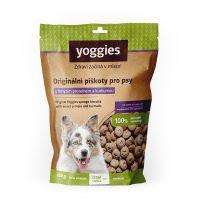 Yoggies hypoalergenní bezlepkové piškoty s hmyzím proteinem a kurkumou 150g