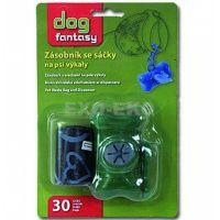 Zásobník  + sáčky na psí výkaly zelený